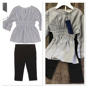 NWT Habitual Girl 2pc Striped Tunic Outfit